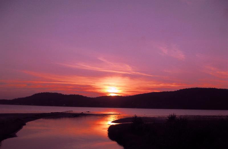 solnedgång till kärleksdikt