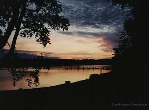 Solnedgång. Analogt foto.