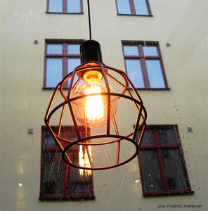 Lampan i fönstret