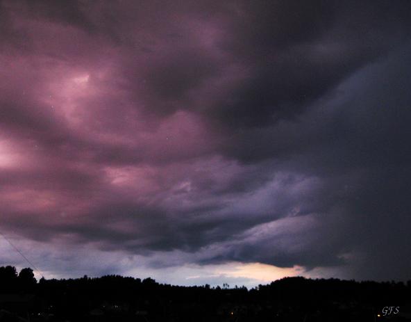 Magisk himmel före åskan 26 juni 16