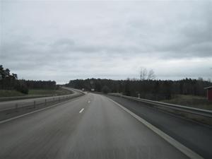 1. På väg mot Uppsala. Första december och 7 grader varmt.
