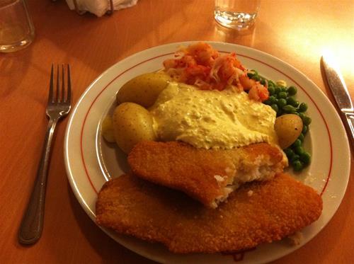 3. Fin mat bjöds det på i mässen...här var det fisk.