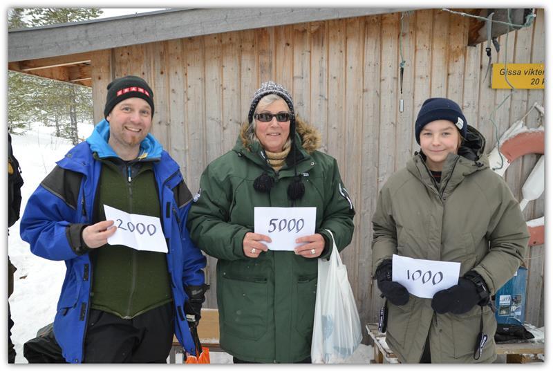 1. Bror Löjdström (frun tog emot priset) Från Ilsbo Vikt 3570. 2 Kristian Stjärnström Sörberge Vikt 3180. 3 Neo Olsson Sundsvall vikt 2290.