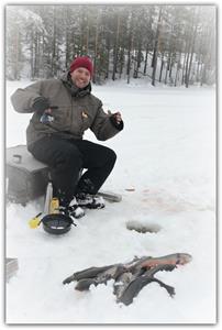 God fiskelycka för Daniel Moisio från Bergeforsen