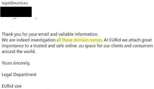 EurID legal investigation of OneCoin websites