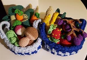 Till barnbarnens kök: virkade med Rainbow garn från Hobbii