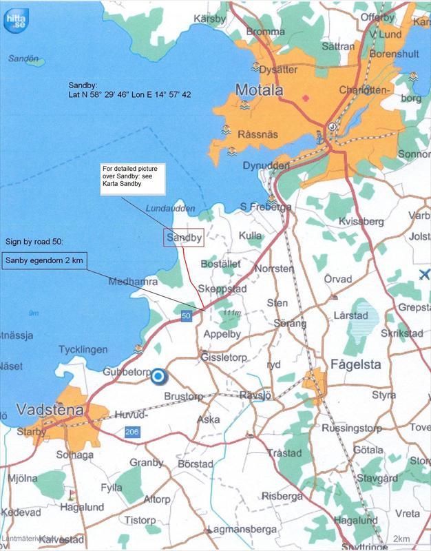 Karta till Sandby