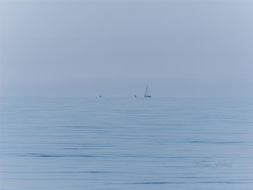 Tre båtar 90x50