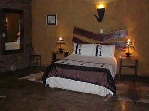 Rummet på Ndluvo Lodge