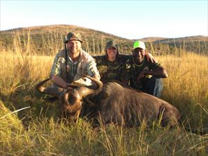 Jag , Camilla och Norman vid min gnu i maj 2009