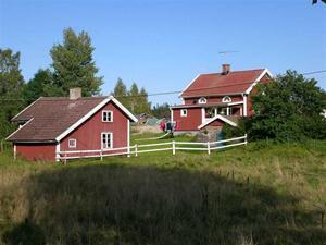 Huset sett från baksidan