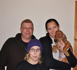 Familjen Stenman med Louie