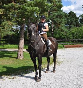 Jag fick äran att rida på en underbar häst Zebbe. Tack Mickis och Sebbe!