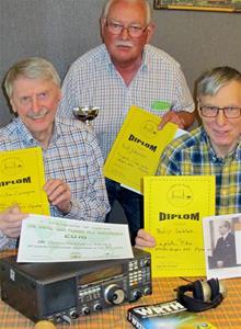 Tibromästerskapet 2016. Christer Carnegren, Rolf Johansson och Börje Sahlén.