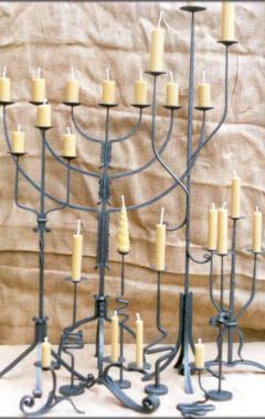 Kované svícny