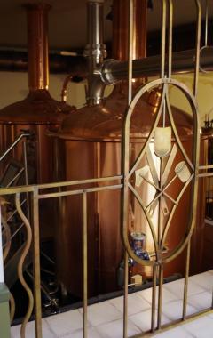mříž s pivovarnickým znakem