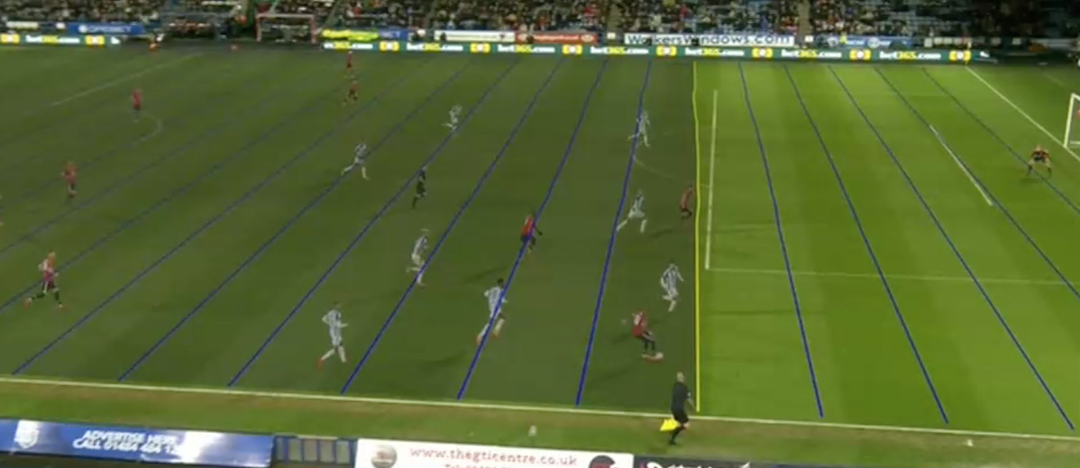 squiggly lines the centre of var shitstorm in united huddersfield