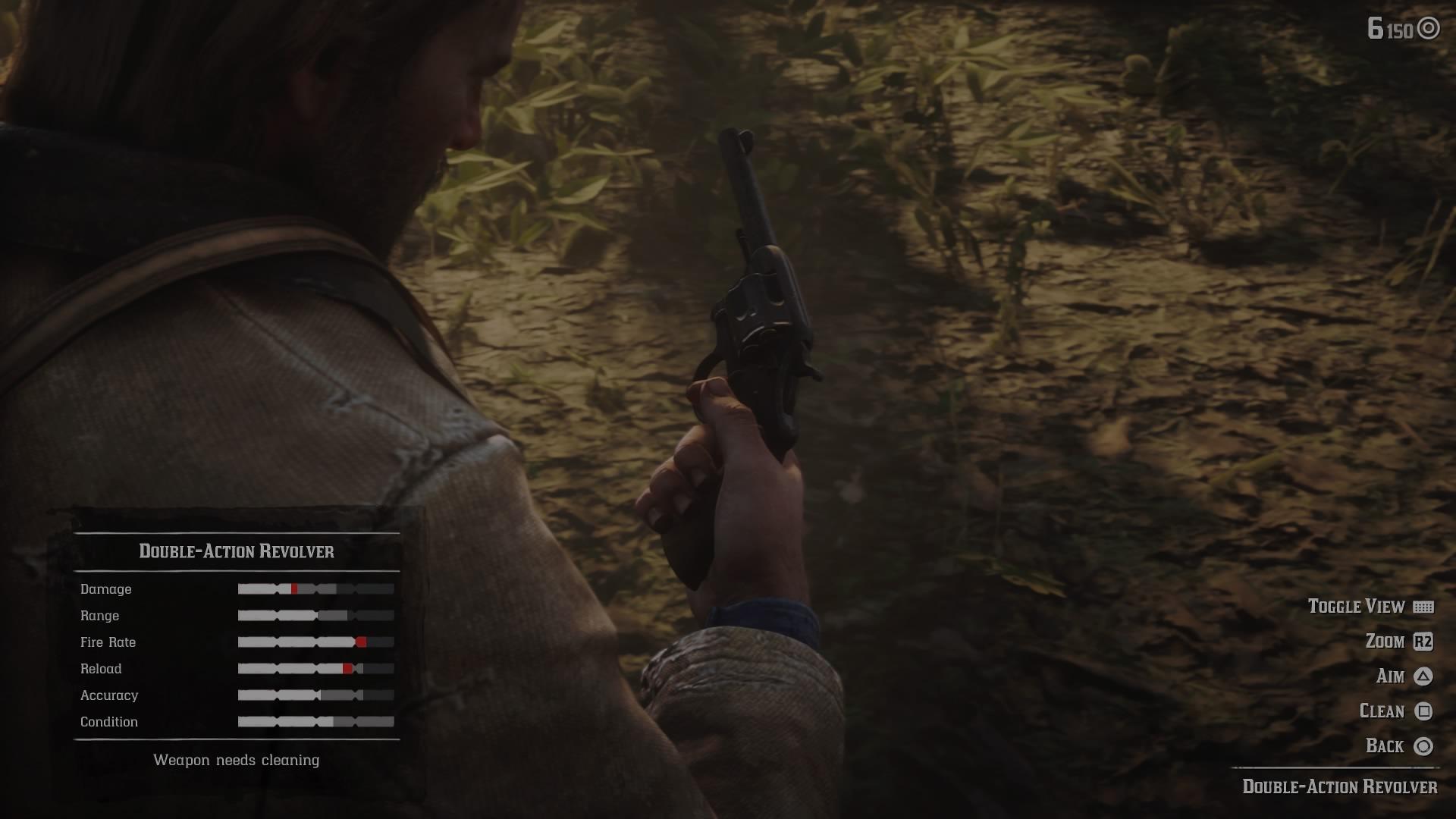 clean guns in Red Dead Redemption 2