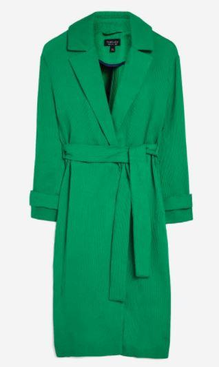 Plisse Belted Duster Coat €80