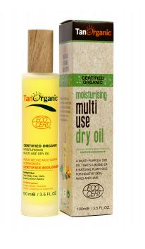 tan organic multi use dry oil