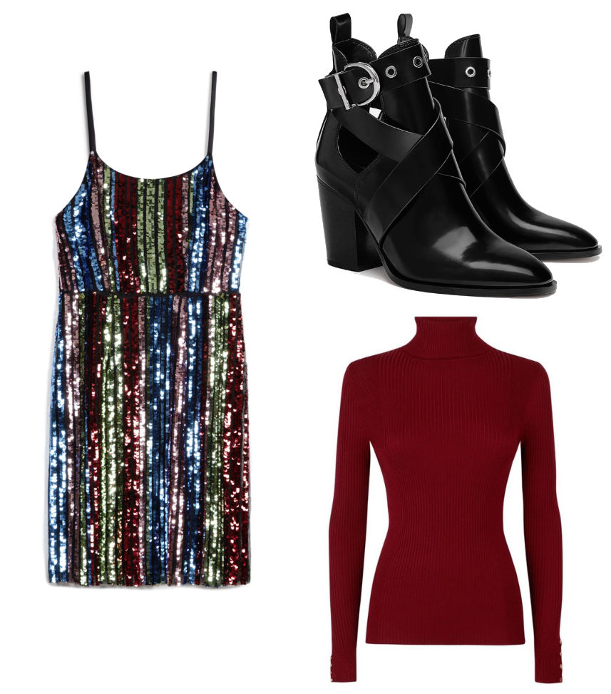 penneys sequin dress outfit 1