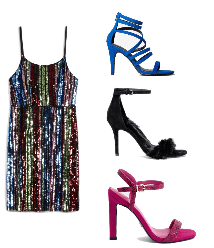 penneys sequin dress outfit 3