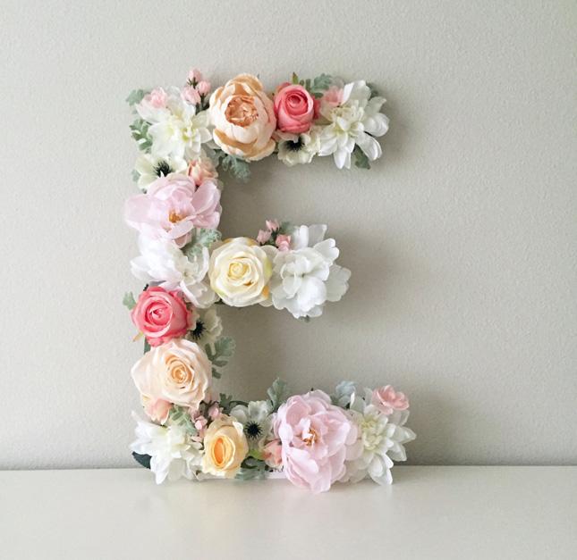 wedding trend alert floral letters