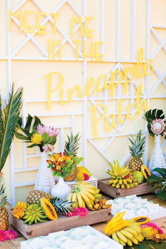 bright wedding details
