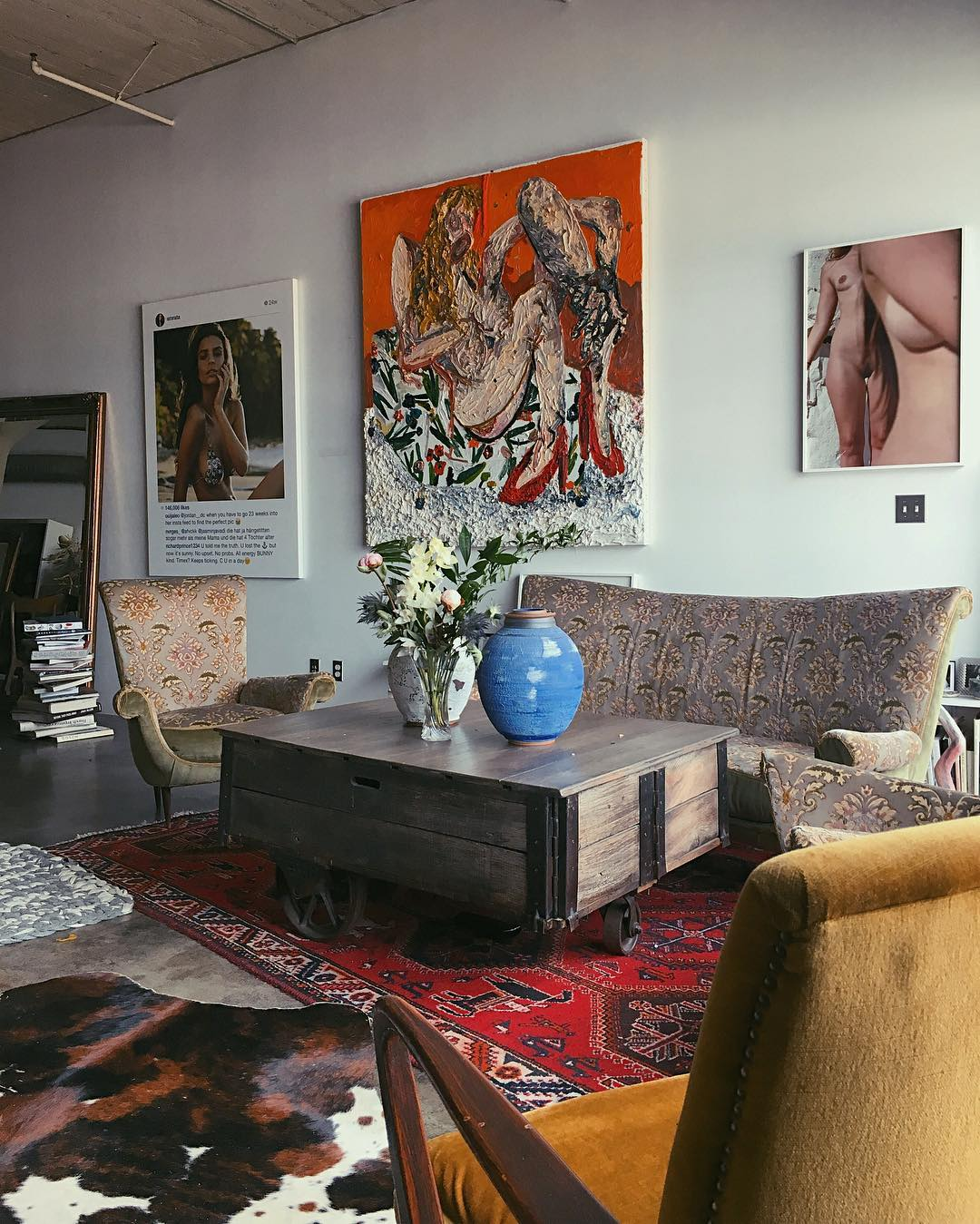 ... For Body Positivity And Sexual Expression, Her Art Collection Reflects  That, But Itu0027s Clear She Doesnu0027t Take It All Too Seriously. In Her Living  Area, ...