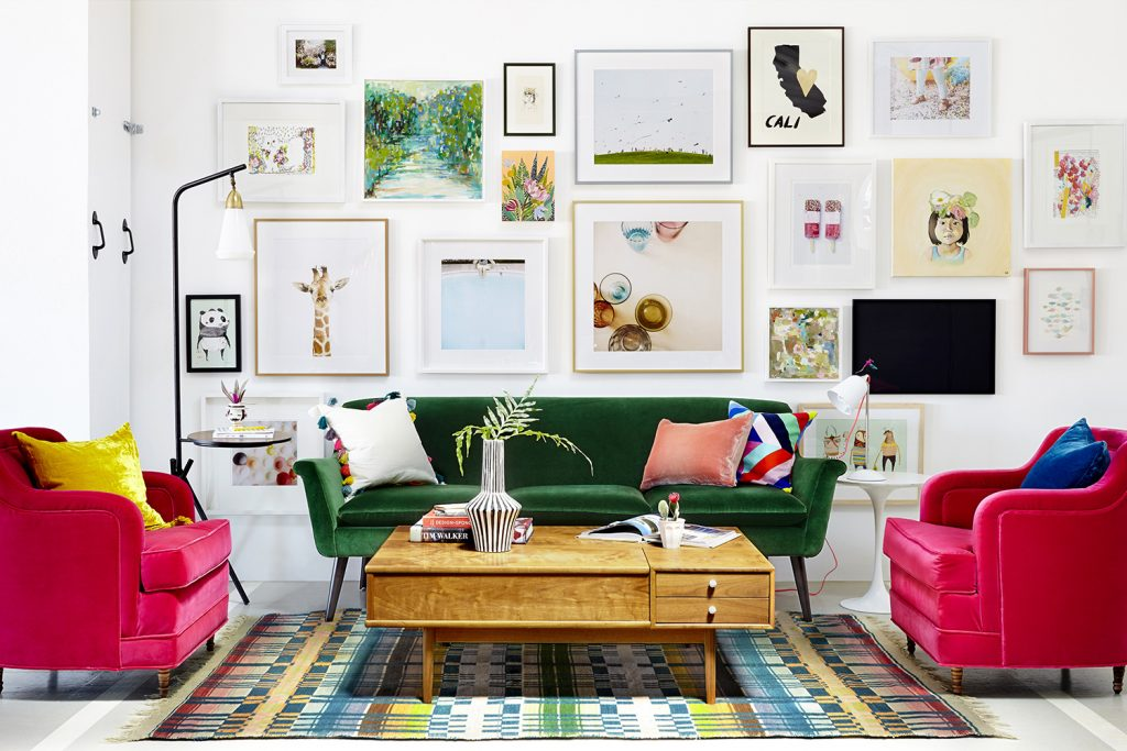 How To Hang Art In Your Home, Decorating With Hanging Frames Advice