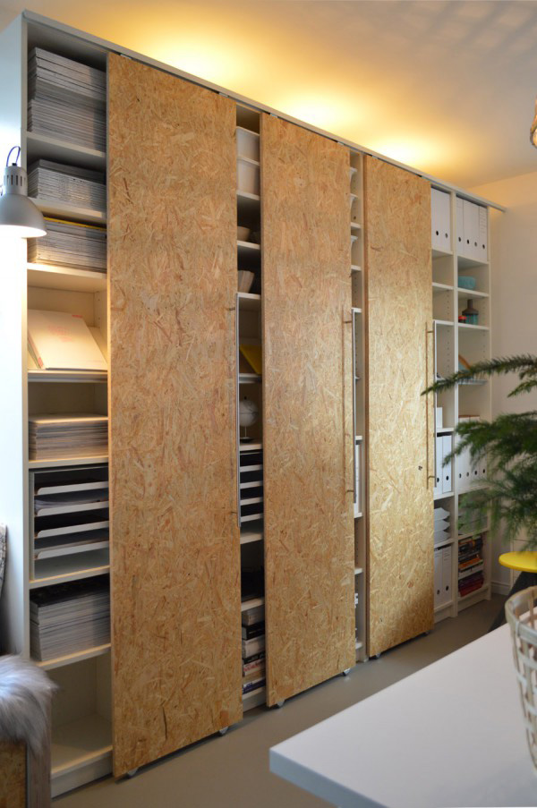 BILLY Bookcase Hack Sliding Doors
