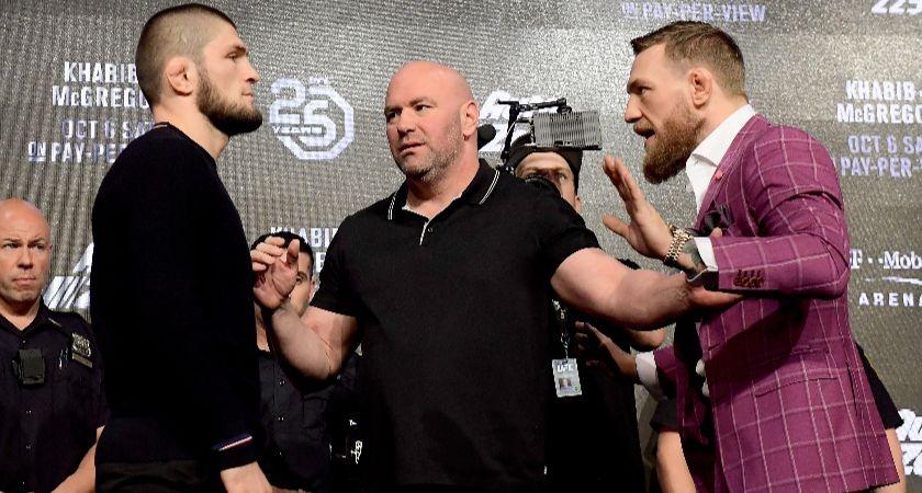 Conor McGregor ahead of UFC 229.