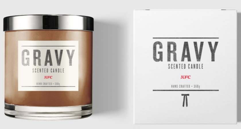 KFC has launched a limited-edition gravy candle and it's finger-licking good.
