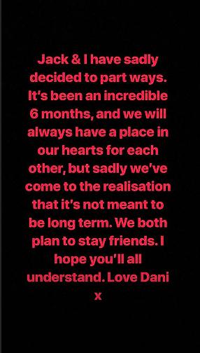 jack and dani love island break up