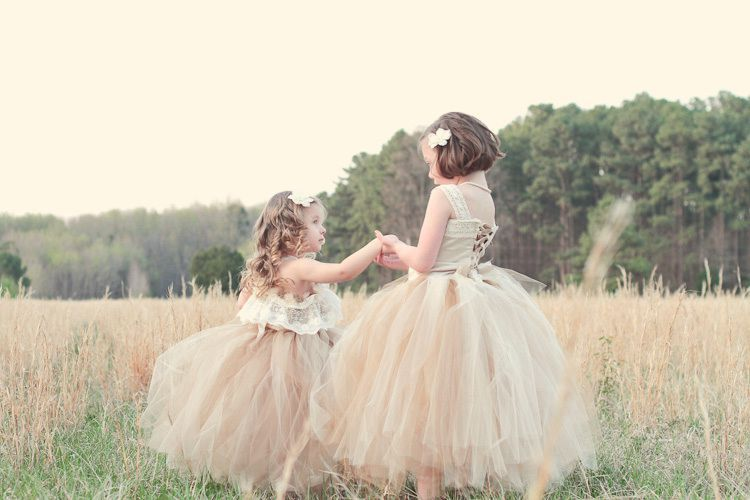Dancing flower girls tea party
