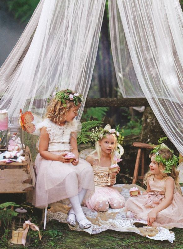 Flower girls tea party