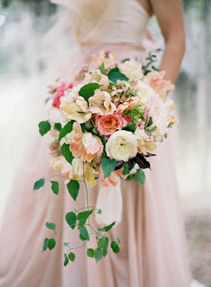 Cascading blush bouquet