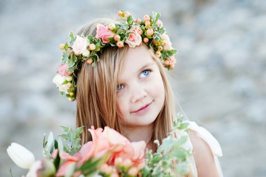Flower girl with floral crown
