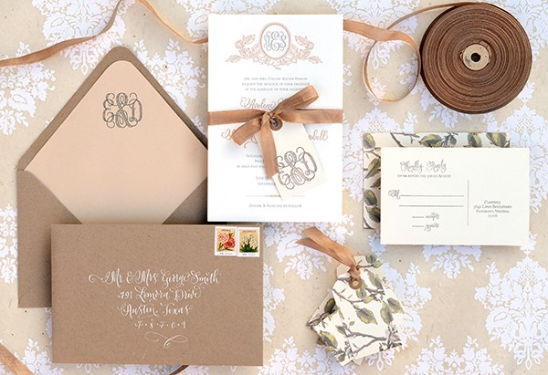Rustic stationery