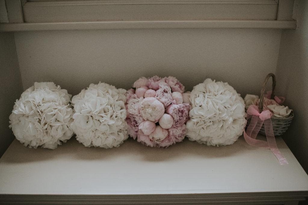 Peony roses at Orla & Gavin's wedding at Cloughjordan House