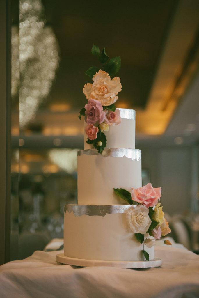 Ali and Ronan at Carton House. Wedding Cake.