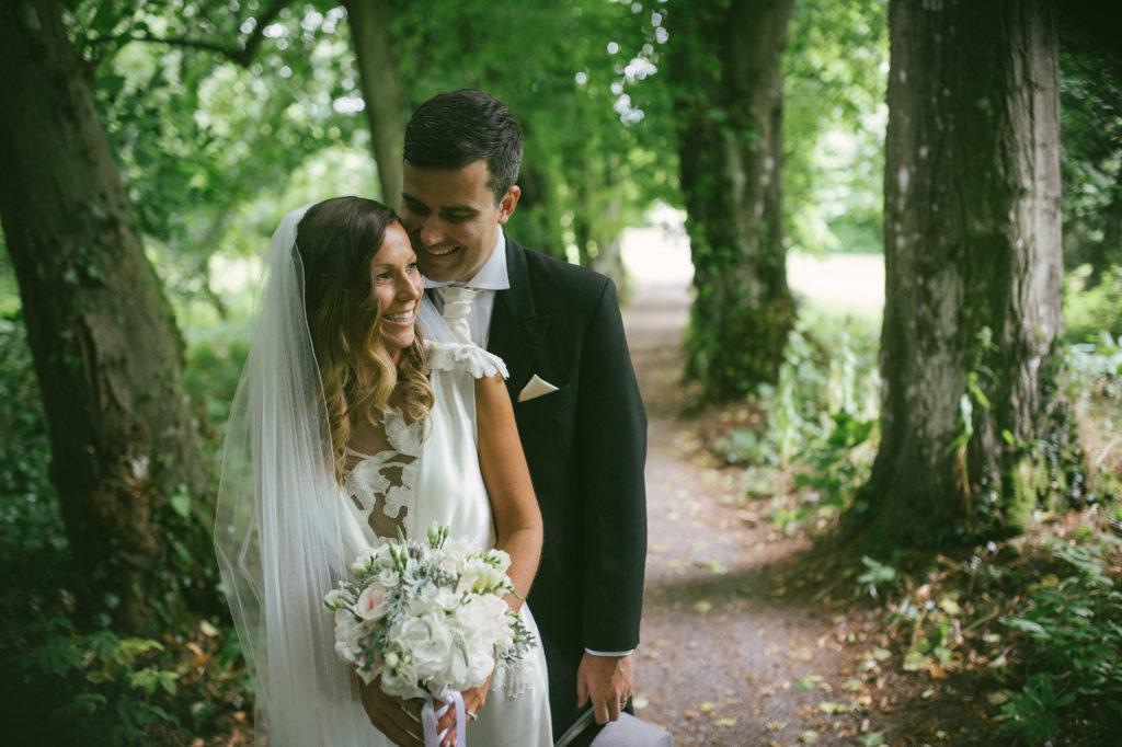 Ali and Ronan at Carton House. Bride and groom.