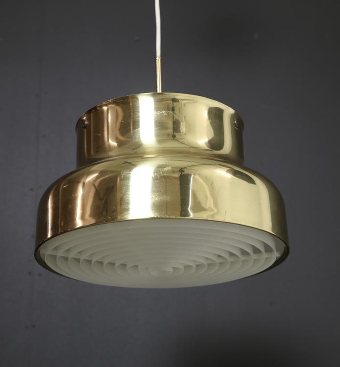 Bumlinglampa i mässing. 40 cm i diameter