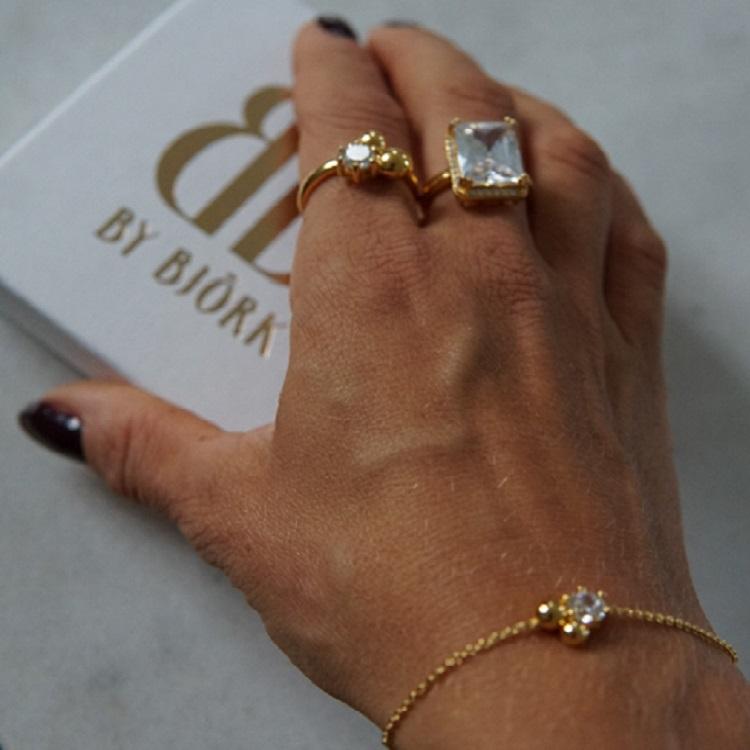smycken i 925 sterlingsilver med 18k guldförgyllning