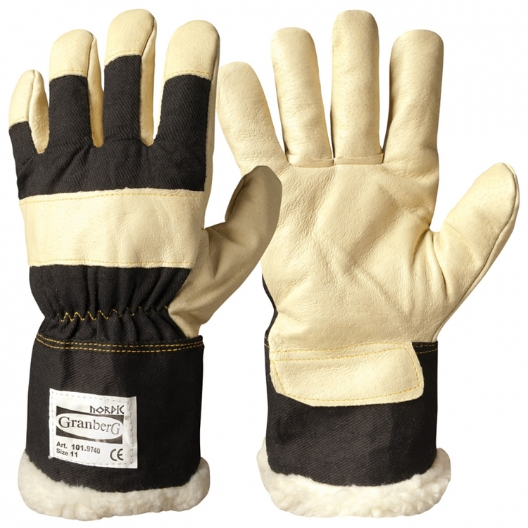 6-pack Granberg® arbetshandskar i svinnarv, vinterfodrad