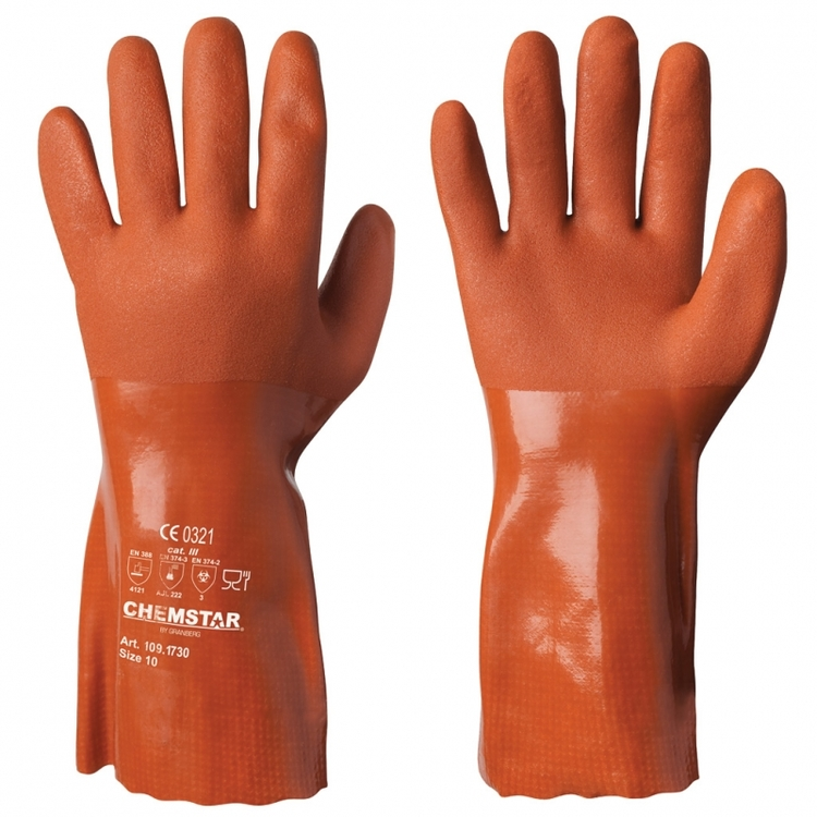 12-pack Chemstar® kemikalieresistenta handskar i vinyl