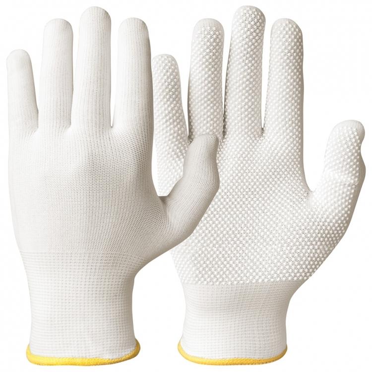 12-pack Granberg® bomullshandskar med Lycra® och mikronoppor i vinyl/PVC