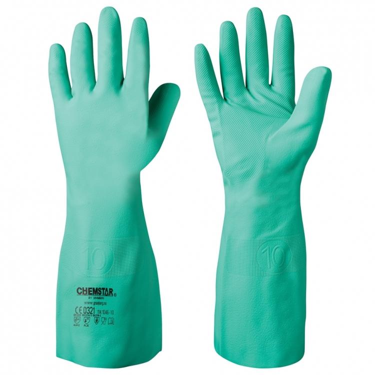 12-pack Chemstar® extra långa kemikalieresistenta handskar i nitril