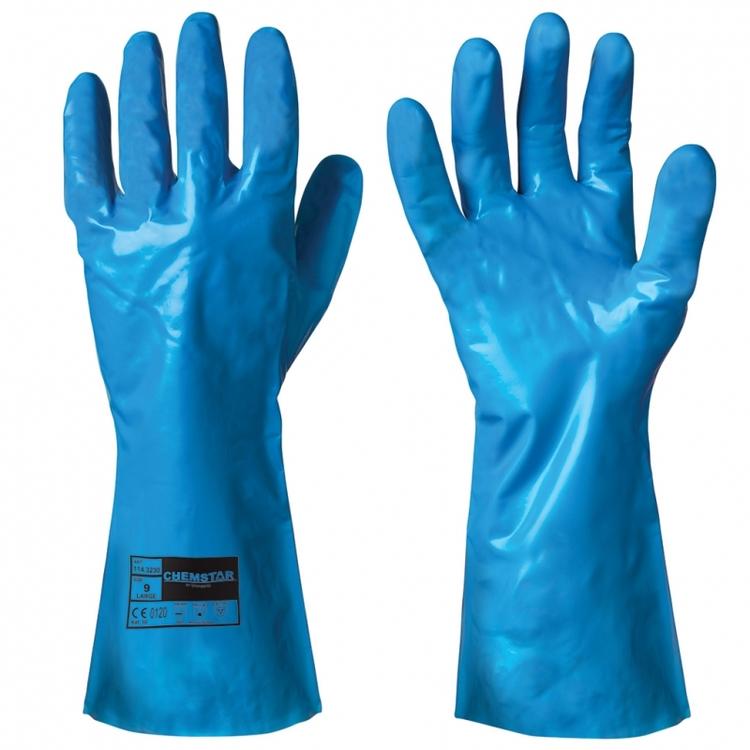 Chemstar® 12-pack kemikalieresistenta handskar i nitril. 114.3230