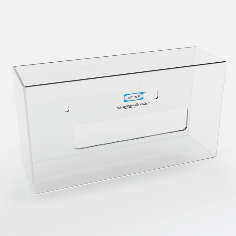 Granberg® 2-pack dispenser för engångshandskar i kraftigt plexiglas. 904.1300